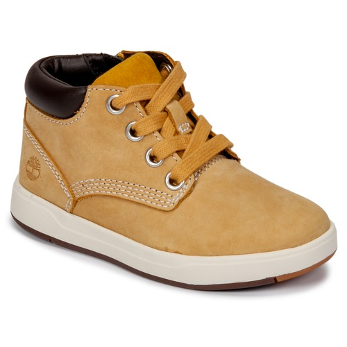 Chaussures Enfant Boots Timberland Davis Square Leather Chk Wheat Naturebuck