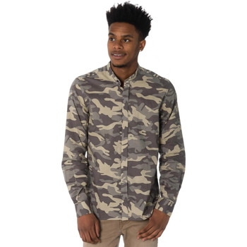 Vêtements Homme Chemises manches longues Antony Morato MMSL00442 4029 Kaki