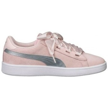 Chaussures Fille Baskets basses Puma Chaussure mode fille  Smash Ribbon rose
