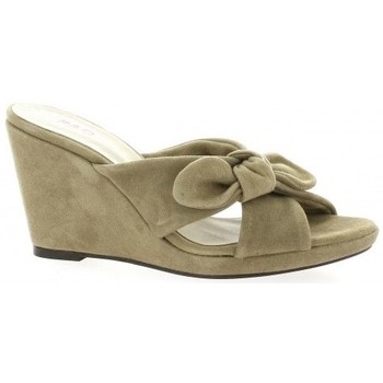 Chaussures Femme Sandales et Nu-pieds Pao Nu pieds cuir velours Taupe