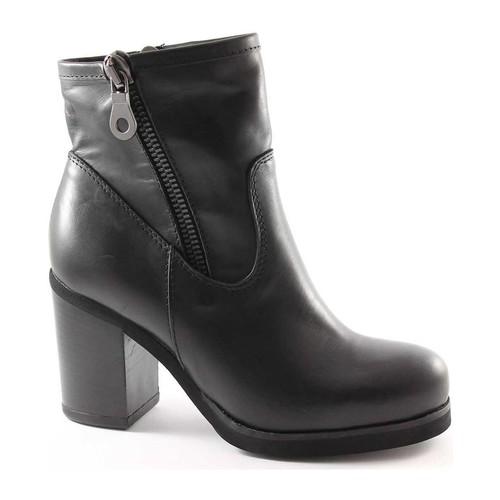 Chaussures Femme Bottines Jhon Grace 1732X2 chaussures noir femme bottines talon double fermeture éc Nero