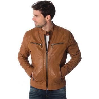 Vêtements Homme Vestes en cuir / synthétiques Daytona EMERSON LAMB CASTEL TAN Cognac