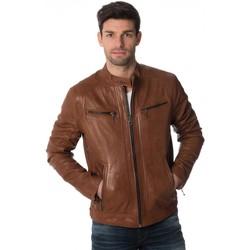 Vêtements Homme Vestes en cuir / synthétiques Daytona EMERSON LAMB CASTEL DARK COGNAC Cognac