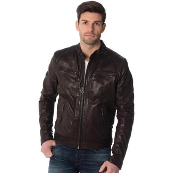 Vêtements Homme Vestes en cuir / synthétiques Daytona EMERSON LAMB CASTEL BROWN Marron