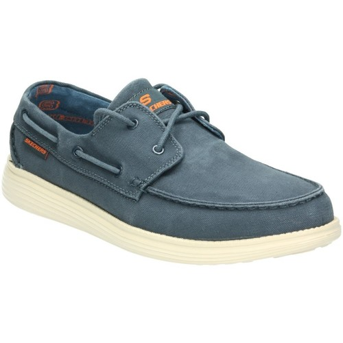 Skechers 64644-NVY BLEU - Chaussures Chaussures bateau Homme