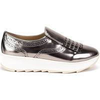 Chaussures Femme Baskets basses Geox Gendry Argent