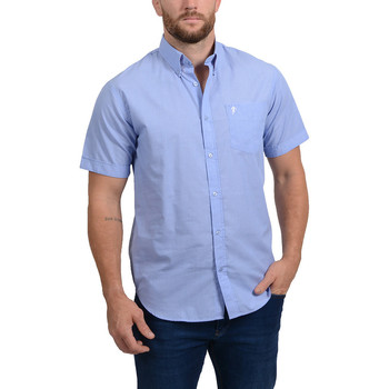 Vêtements Homme Chemises manches courtes Ruckfield Chemise Bleue Rugby Liberty Bleu