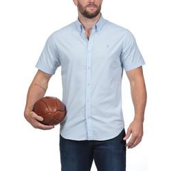 Vêtements Homme Chemises manches courtes Ruckfield Chemise bleue à manches courtes Rugby Essentiel Bleu