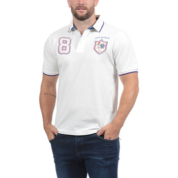 Vêtements Homme Polos manches courtes Ruckfield Polo France vintage blanc Blanc