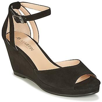 Chaussures Femme Sandales et Nu-pieds JB Martin QUASAR Noir