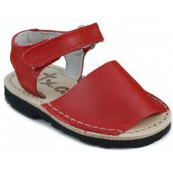 Chaussures Enfant Sandales et Nu-pieds Arantxa Menorquinas enfants faits à la main ROUGE