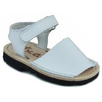 Chaussures Enfant Sandales et Nu-pieds Arantxa Menorquinas enfants faits à la main BLANC