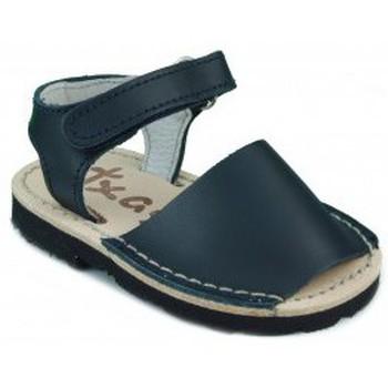 Chaussures Enfant Sandales et Nu-pieds Arantxa Menorquinas enfants faits à la main BLEU