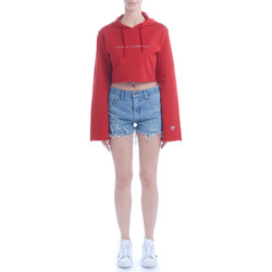 Vêtements Femme Sweats Chiara Ferragni Sweat crop Chiara Ferragni rouge avec capuche Rouge