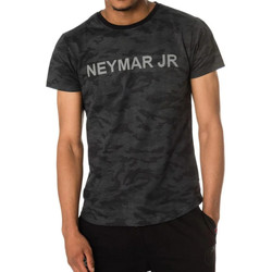 Vêtements Enfant T-shirts manches courtes Paris Saint-germain T-SHIRT D NAHIL JUNIOR NOIR NEYMAR Camouflage