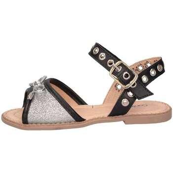 Chaussures Fille Sandales et Nu-pieds Contramao 3086134 ARGENTO GLIT Sandales Enfant Argenté