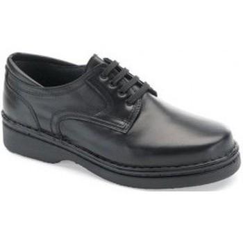 Chaussures Homme Derbies Calzamedi Chevalier orthopédique très confortable NOIR