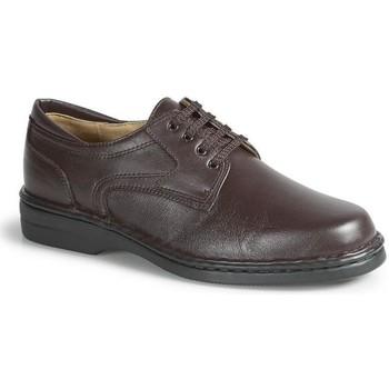Chaussures Homme Derbies Calzamedi Chevalier orthopédique très confortable MARRON