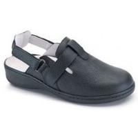 Chaussures Femme Mules Calzamedi boucher à double velcro confortable NOIR