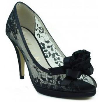 Chaussures Femme Escarpins Marian chaussure confortable partie transparente NOIR
