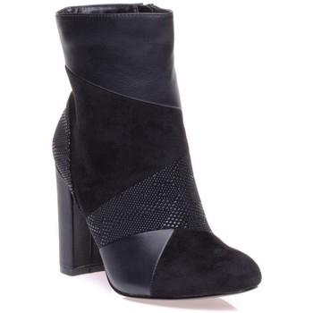 Chaussures Femme Low boots Bronx Bottine Noir