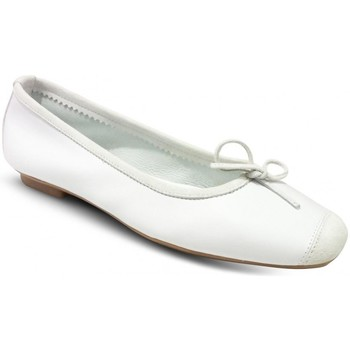 Chaussures Femme Ballerines / babies Reqins Ballerines Plates Harmony Cuir Blanc blanc