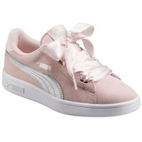Chaussures Fille Baskets mode Puma Sneakers fille  Smash V2 Ribbon rose