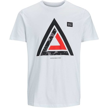 Vêtements Homme T-shirts manches courtes Jack & Jones 12132171 MATE T-SHIRT Homme WHITE WHITE