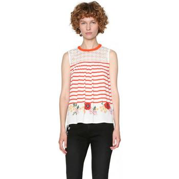 Vêtements Femme Débardeurs / T-shirts sans manche Desigual Débardeur Rabat Marocco Carmin Rouge 18SWBWBO 8