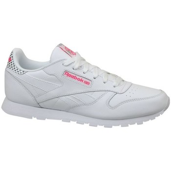 Chaussures Enfant Baskets basses Reebok Sport CL Leather Girl Squad Blanc