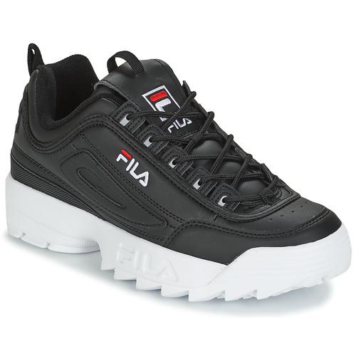 104f8130eaf Fila DISRUPTOR LOW Noir - Chaussures Baskets basses Homme 86