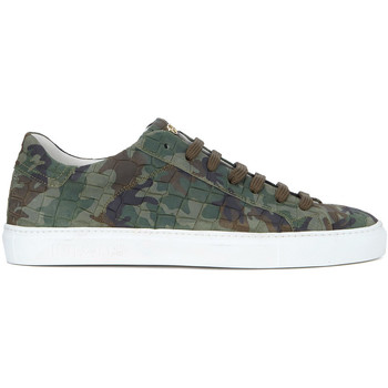 Chaussures Homme Baskets mode Hide&jack Basket  Essence Croco Against War Limited Edition Vert