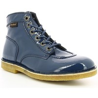 Chaussures Femme Boots Kickers KICK LEGEND VERNIS Marine
