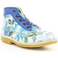 Chaussures Fille Boots Kickers KICK LEGEND TROPICAL Bleu