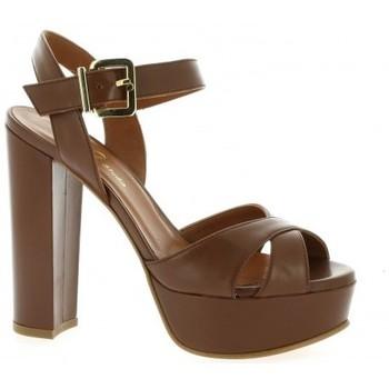 Chaussures Femme Sandales et Nu-pieds Essedonna Nu pieds cuir Cognac