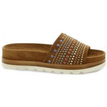 Chaussures Femme Sandales et Nu-pieds Essedonna Nu pieds cuir velours Cognac