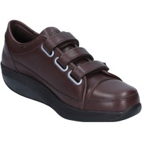 Chaussures Femme Baskets basses Mbt sneakers marron cuir performance AC143 marron