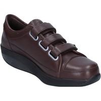 Chaussures Femme Baskets basses Mbt chaussures femme  sneakers marron cuir performance AC143 marron