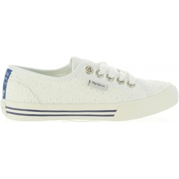 Chaussures Fille Baskets basses Pepe jeans PGS30261 BAKER Blanco