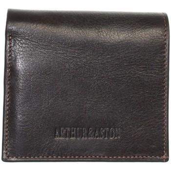 Sacs Porte-monnaie Arthur & Aston Porte-monnaie en cuir Arthur et Aston ref_ast42576-C-Châtaigne 9 Marron foncé