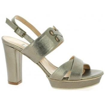 Chaussures Femme Sandales et Nu-pieds Benoite C Nu pieds cuir laminé Or