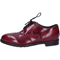 Chaussures Femme Derbies & Richelieu Moma élégantes bordeaux cuir brillant AC304 rouge