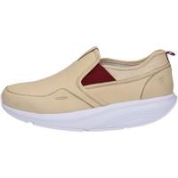 Chaussures Femme Baskets basses Mbt chaussures femme  slip on mocassins beige cuir textile AC442 beige