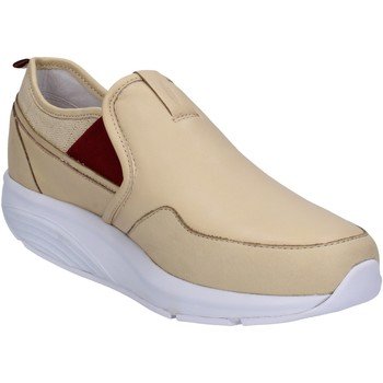 Chaussures Femme Baskets basses Mbt slip on mocassins beige cuir textile AC442 beige