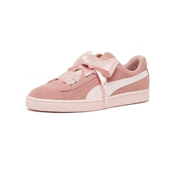 Chaussures Femme Baskets basses Puma Chaussures  Jr Suede Heart Jewel - Peach Beige / Pearl Rose