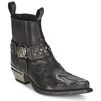 Chaussures Femme Boots New Rock PRETO Noir