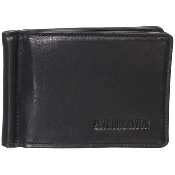 Sacs Portefeuilles Arthur & Aston Porte-cartes Arthur et Aston en cuir ref_ast42541 Noir