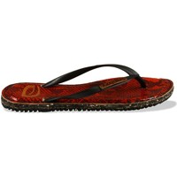 Chaussures Femme Tongs Amazonas Tongs Eco Leather Noir et Rouge ROUGE