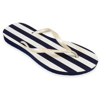 Chaussures Femme Tongs Amazonas Tongs  Enjoy Listras Marine et Blanc MARINE