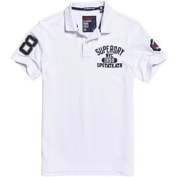 Vêtements Homme Polos manches courtes Superdry Polo  Classic Superstate Optic White Blanc